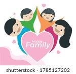 happy family logo illustration. ... | Shutterstock .eps vector #1785127202