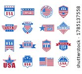 set of made in usa icon with... | Shutterstock .eps vector #1785137558