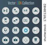 internet  server  network icon...   Shutterstock .eps vector #1785138482