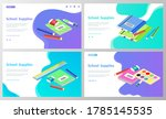supplies for lessons  vector... | Shutterstock .eps vector #1785145535