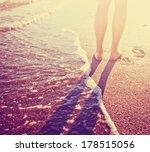 vacation holidays.feet closeup... | Shutterstock . vector #178515056
