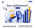 seo optimization flat landing...   Shutterstock .eps vector #1785158225