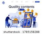 quality contents flat landing... | Shutterstock .eps vector #1785158288