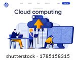 cloud computing flat landing... | Shutterstock .eps vector #1785158315