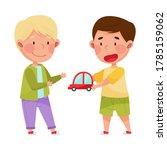 friendly kids playing together...   Shutterstock .eps vector #1785159062