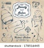 hand drawn vintage salon | Shutterstock .eps vector #178516445