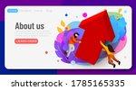 landing page. business team... | Shutterstock .eps vector #1785165335