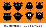 cute monster set. happy... | Shutterstock .eps vector #1785174218