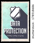 Data Protection Concept On Blu...