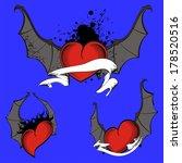 heart winged bat set vector... | Shutterstock .eps vector #178520516