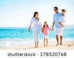 family having fun on the beach | Shutterstock . vector #178520768