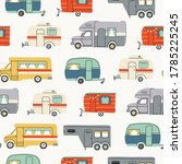 colorful campers rv. various... | Shutterstock .eps vector #1785225245