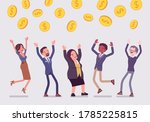 people catching dollar coins... | Shutterstock .eps vector #1785225815