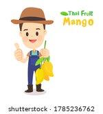 thai farmer have mango thai...   Shutterstock .eps vector #1785236762