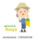 thai farmer have mango thai...   Shutterstock .eps vector #1785236768