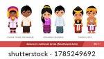 kayan tribe  myanmar  burma ... | Shutterstock .eps vector #1785249692