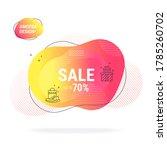 sale advertising poster design... | Shutterstock .eps vector #1785260702