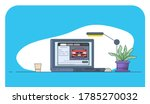 online car search web site.... | Shutterstock .eps vector #1785270032