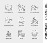 set of vector linear icons for...   Shutterstock .eps vector #1785288188