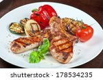 christmas meat with vegetable... | Shutterstock . vector #178534235