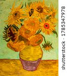 Sunflowers. Beautiful Oil...