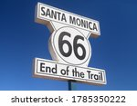 Route 66 End Of Trail Sign In...