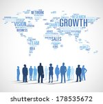 vector of business growth with... | Shutterstock .eps vector #178535672