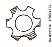 gear. sketch symbol isolated on ... | Shutterstock .eps vector #178536392