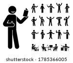 stick figure man different... | Shutterstock .eps vector #1785366005