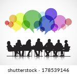vector of social business... | Shutterstock .eps vector #178539146