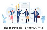 business contract signing.... | Shutterstock .eps vector #1785407495