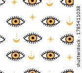 evil eyes seamless pattern.... | Shutterstock .eps vector #1785411038