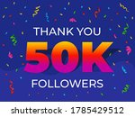 thank you 50000 or 50k...   Shutterstock .eps vector #1785429512