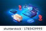 the concept of online ordering... | Shutterstock .eps vector #1785429995