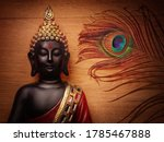 Buddha Statue With Wooden...