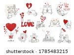 cute cats in love. valentines...   Shutterstock .eps vector #1785483215