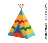 childrens wigwam  tipi  teepee  ...   Shutterstock .eps vector #1785499898
