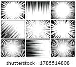 comic book radial lines... | Shutterstock .eps vector #1785514808