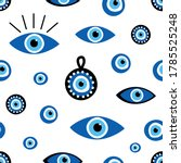 vector seamless pattern... | Shutterstock .eps vector #1785525248
