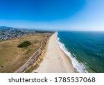 Aerial Of Beach Blue Waves...