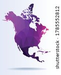 polygonal map of north america   Shutterstock .eps vector #1785552812