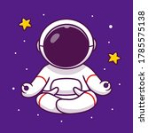 cute astronaut yoga in space... | Shutterstock .eps vector #1785575138