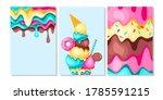 sweet food card. lemon  mint... | Shutterstock .eps vector #1785591215