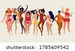 multiracial women of different... | Shutterstock .eps vector #1785609542