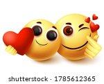 emoji love couple character... | Shutterstock .eps vector #1785612365