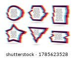 vector frames with glitch tv... | Shutterstock .eps vector #1785623528