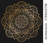Circular Flower Mandala With...
