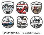 racing sport icons  motocross...   Shutterstock .eps vector #1785642638