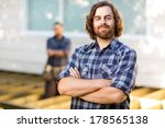 portrait of confident mid adult ... | Shutterstock . vector #178565138