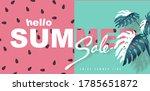 summer sale background layout... | Shutterstock .eps vector #1785651872